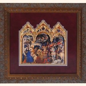 Adoration of Magi Burgundy Triptych