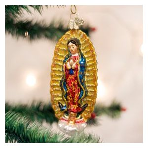 Our Lady of Guadalupe Glass Ornament