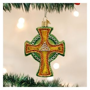 Trinity Cross Blown Glass Ornament