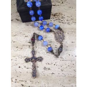 10mm Blue Spotted Agate Rosary