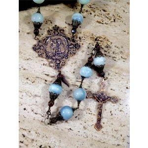 20mm Aqua Stone Rosary