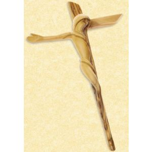 Contemporary Olive Wood Crucifix