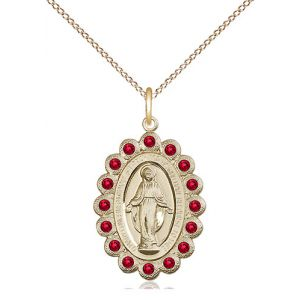 Miraculous Ruby Red Crystal Necklace