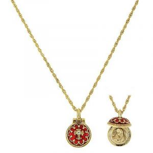 ACM157 Virgin Mary Locket 18''
