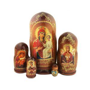 Icons of Mary Nesting Dolls