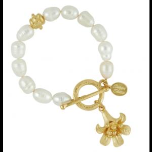 Angel's Trumpet Freshwater Pearl Bracelet