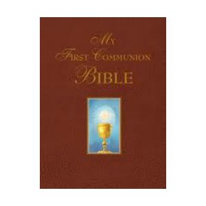 My First Communion Bible Burgundy