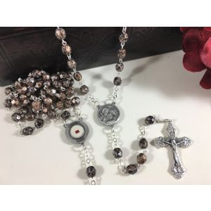 Holy Family Rosary with Relic - Faceted Beads