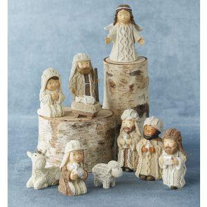 10 pc Tiny Knit-Look Nativity