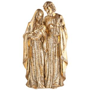 Golden Holy Family Statue