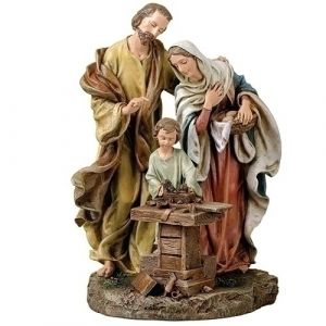 Holy Family at The Work Bench Statue