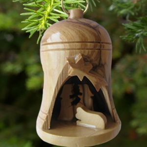 Olivewood Nativity Bell