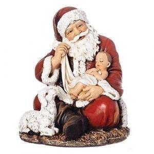 Santa with Baby Jesus and Lamb