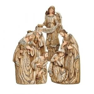 Wood Look 3pc Nativity