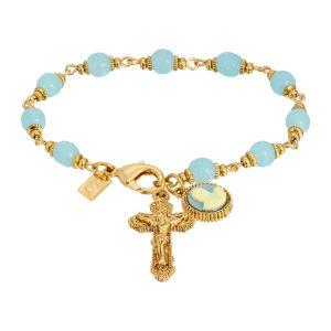 Cameo Crucifix Bracelet
