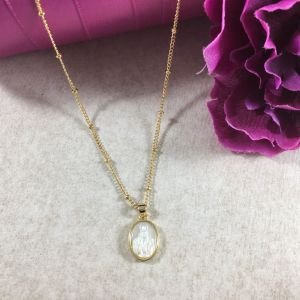 Our Lady of Grace Mother of Pearl Necklace