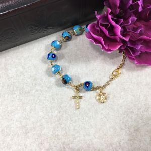 801 Murano Glass Bracelet - Aqua