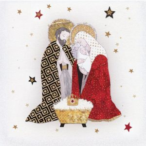 Holy Family by Edberg Christmas Card 4x4 Pack