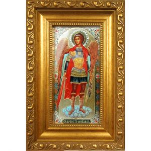 St Michael with Crystals Icon