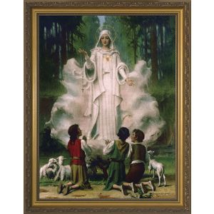 Our Lady of Fatima with the Children 12x16