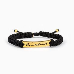 Be Not Afraid JPII Signature Bracelet Gold