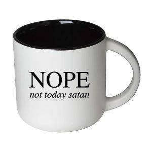 NOPE not today satan Mug