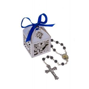 Boy's First Communion Rosary in Box