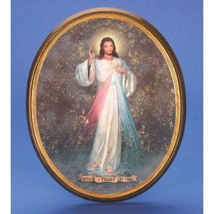 Divine Mercy Italian Plaque