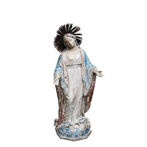 "Antiqued Virgin Mary 27"" Statue"