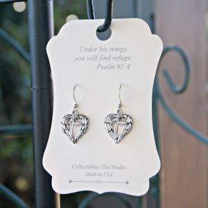 Cross Heart Earrings