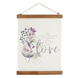 United In Love Canvas Wall Hanging
