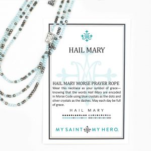 Hail Mary Morse Code Long Necklace