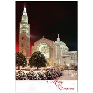Shrine Winter Evening Cards