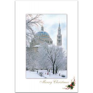 S28 National Shrine Snowy Christmas Cards
