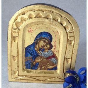 Blue Madonna Icon - 5x4
