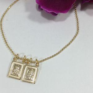 Scapular Gold Plated Bracelet