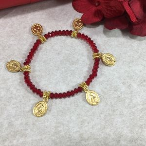 Red Crystal Miraculous Charms Bracelet