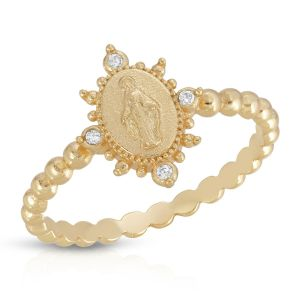 Our Lady of Grace with Crystal Ring