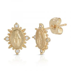 Our Lady of Grace Crystal Earrings