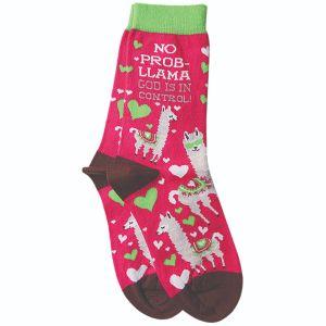 No Problem Llama Socks