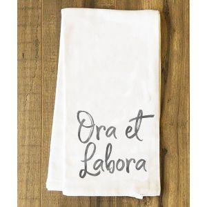 Ora et Labora Tea Towel