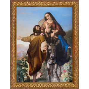Flight into Egypt 8x10 Framed Gold Art