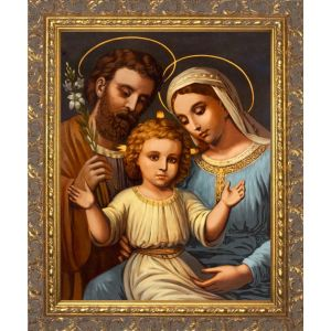 Italian Holy Family - Ornate Gold Framed 12x16 Art