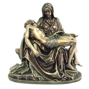 "Veronese Bronzed Pieta 8"" Statue"