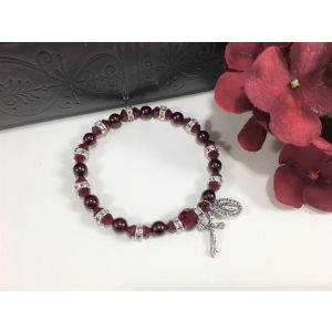 Pearl & Crystal Red Bracelet