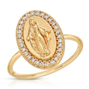 Our Lady of Grace Ring Circled in Crystal
