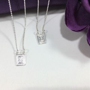 713 Scapular Silver Necklace