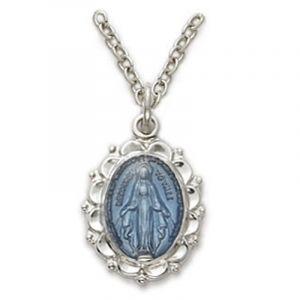 Blue Enamel Miraculous Medal