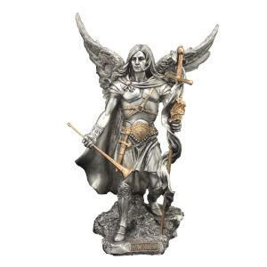 Archangel Gabriel in Pewter with Gold Highlights