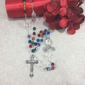 Swarovski Jewel Tone Crystal Rosary